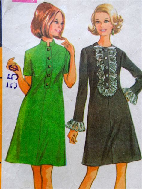 dress pattern with collar 60s shift dress pattern mandarin collar front ruffle dress