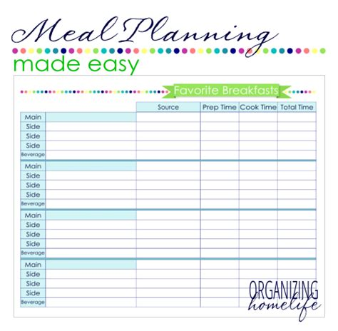 printable 30 day meal planner search results for weekly menu plan printable free