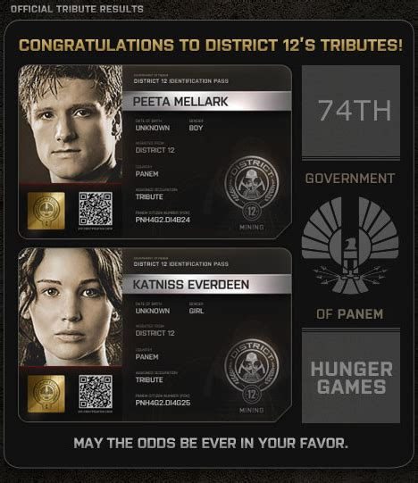 hunger games underlying themes the capitol pn id cards for hunger games tributes