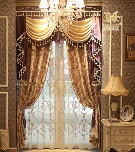 high end curtains high end european style retro palace garden double