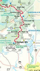 springer mountain map appalachian trail thru hike part 1 the beginning on my