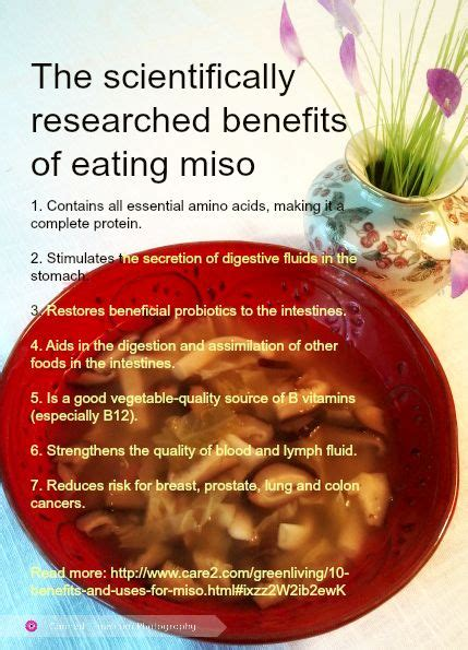 The Health Benefits Of Miso Soup hearty country miso soup cancer miso