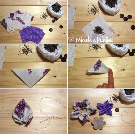 fiori di stoffa come si fanno fiori alla lavanda fai da te senza cucire briciole e puntini