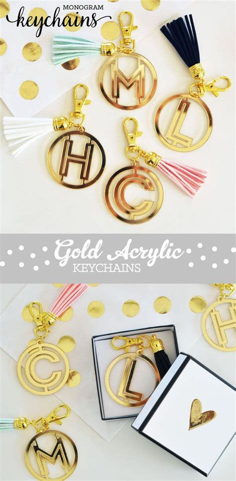 fun gifts for her acrylic keychains initial keychains unique gifts for her