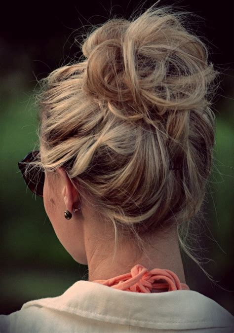 Cute Hairstyles Messy Bun | cute messy bun perfect hairstyles pinterest