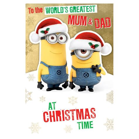 minions mum dad christmas card dx character brands
