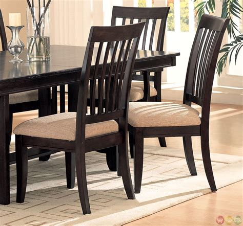 Casual Dining Table And Chairs Monaco Cappuccino Finish Casual Dining Room Set