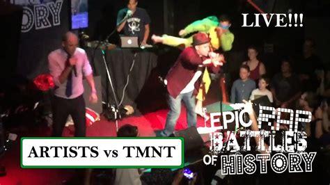 artists vs tmnt epic rap battles of history season 3 finale artists vs tmnt epic rap battles of history live world