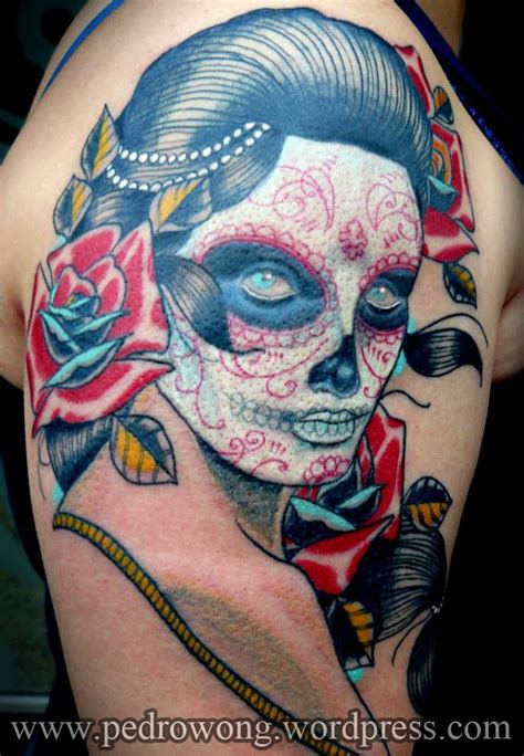 traditional woman tattoo school mexican traditional portrait on
