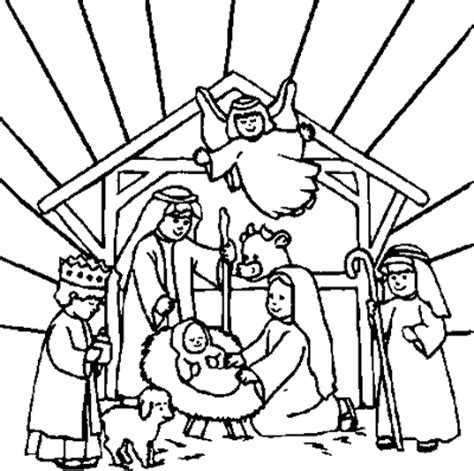 coloring pages of stable printable nativity stable coloring page colorings net