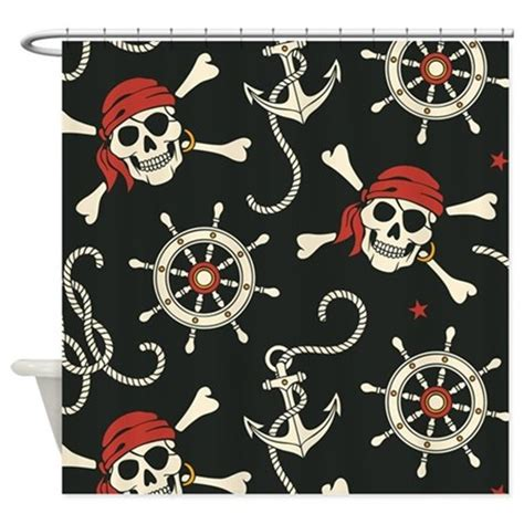 pirate curtains pirate skulls shower curtain by bestshowercurtains