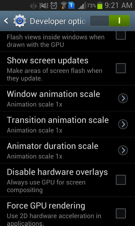 android layout animation performance disable animations in android for better performance