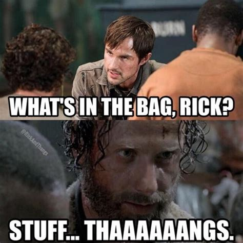 Stuff And Things Meme - rick grimes rules evolution
