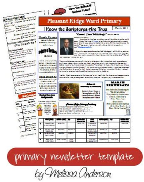 Lds Primary Newsletter Template 2017 20 Best Primary Stuff Images On Pinterest Lds Primary Best Newsletter Templates 2017