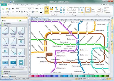 software map drawing free subway map software