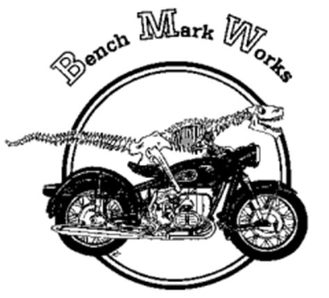 bench mark works bench mark works llc velociraptor dinosaur logo