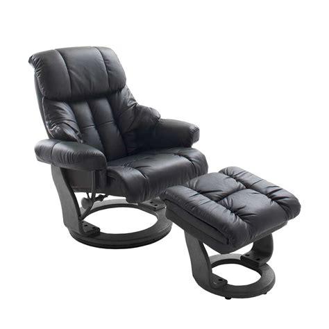 hocker aus leder relaxsessel aus leder schwarz mit hocker 2 teilig