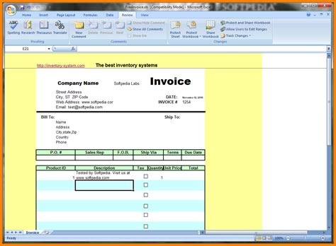 download templates for invoices free excel rabitah net