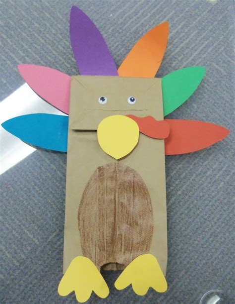 Paper Bag Turkey Craft - pin by danielle baker on fall harvest