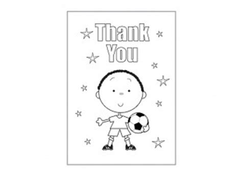 soccer thank you card template thank you card template for children football ichild