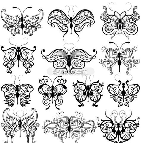 vector butterfly pattern design template image deoci com