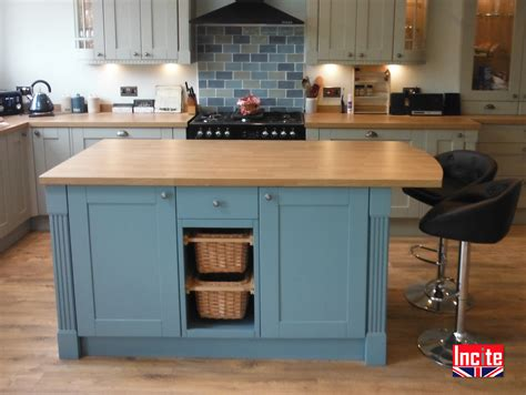 kitchen island free standing bespoke custom made painted fitted kitchens incite derby