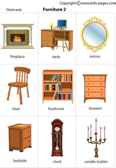 couch words furniture2 flashcard