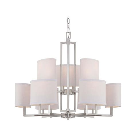 Modern Chandelier Shades Modern Chandelier With Grey Shades In Brushed Nickel Finish 60 4759 Destination Lighting