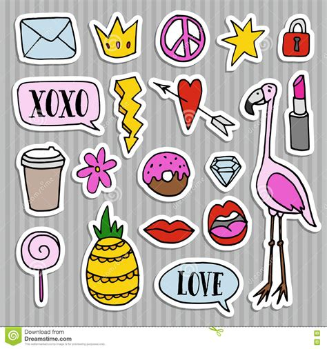 Coole Aufkleber Kostenlos by Set Of Fashion Patches Badges Pins Stickers Cool
