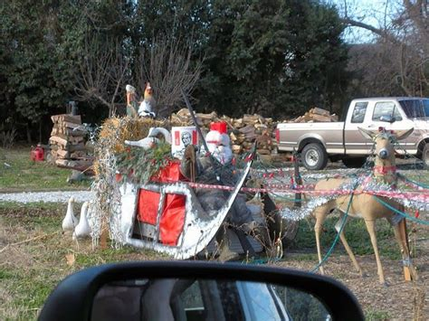 redneck christmas yard decorations trash and