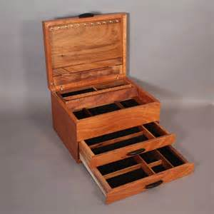 Furniture bottom double drawer rustic oak wood jewelry boxes design