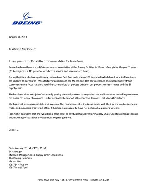 Reference Sample For Resume by Boeing Letter Of Reccommendation
