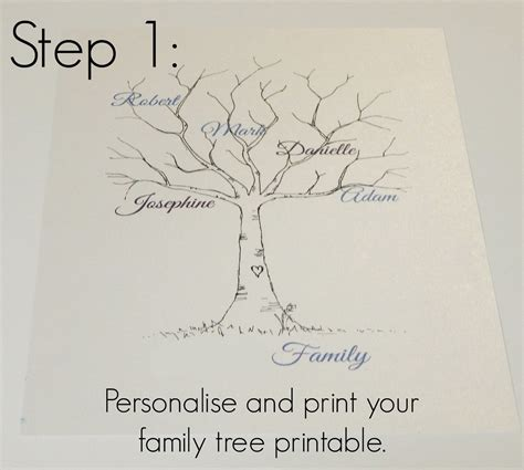 printable family tree art family tree template family tree thumbprint template