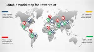 world powerpoint template editable worldmap for powerpoint slidemodel