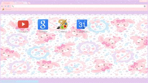 themes google chrome kawaii kawaii bunnie theme google chrome y torch by
