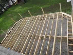 wood deck installation decks installing composite decking