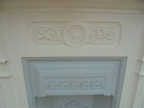Painting Cast Iron Fireplace White by A Reclaimed Decorative Cast Iron Fireplace Authentic