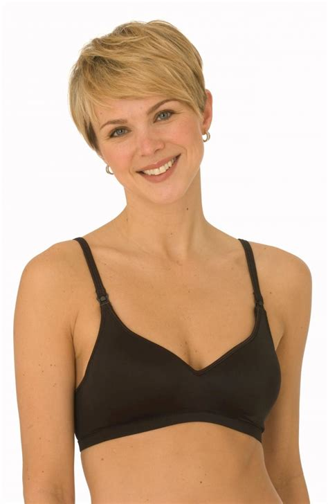 La Leche League Seamless Pullover Nursing Bra Black la leche league contour softcup nursing bra