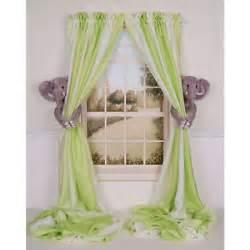 Elephant Curtains For Nursery Curtain Critters Baby Nursery Jungle Safari Zoo Elephant Curtain Tieback Set Ebay