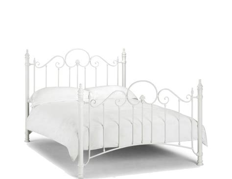 Andria Off White Metal Bed White Metal Bed Frame King