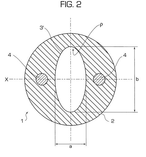 circular cross section patent us6314224 thick walled cable jacket with non