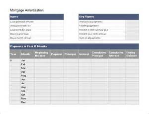 loan schedule template amortization schedule template 7 free sle exle