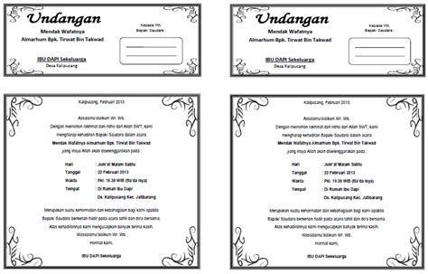 template undangan nikah doc 100 template undangan download template undangan