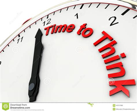 think on time to think stock illustration image 40157080