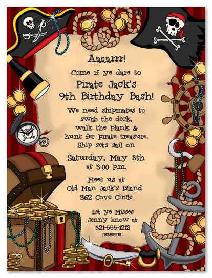 printable birthday card pirate birthday invites how to create pirate birthday party