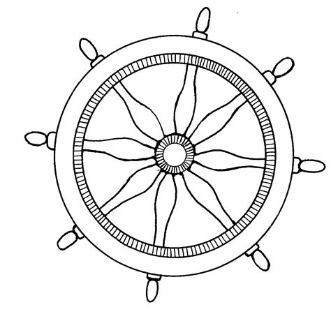 mormon share nautical ships steering wheel coloring