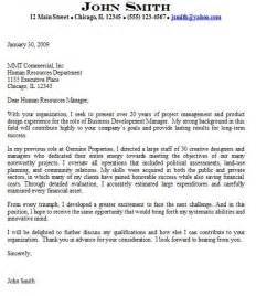 Executive Cover Letter Exles by Manager Cover Letter For Advanced Executive Level Candidates
