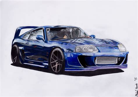 toyota supra drawing my drawing of mk4 supra