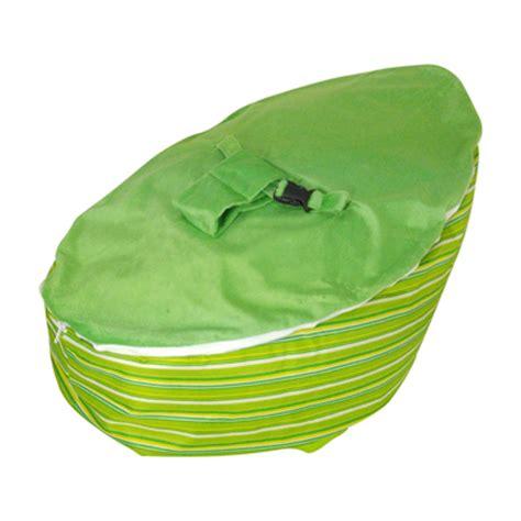 lime stripe baby bean bag