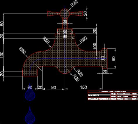 M Drawing In Autocad by Faucet Dwg Model For Autocad Designs Cad